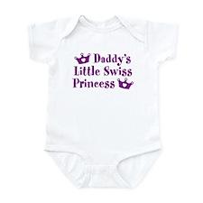 Daddy's Little Swiss Princess Infant Bodysuit