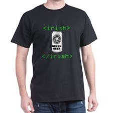 Lostie Green Beer Can [Irish HTML tag] T-Shirt