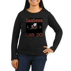 Seabees Can Do Black T-Shirt