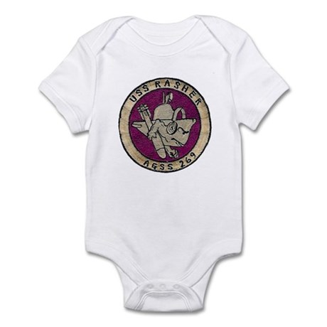 USS RASHER Infant Bodysuit