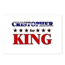CRISTOPHER for king Postcards (Package of 8)