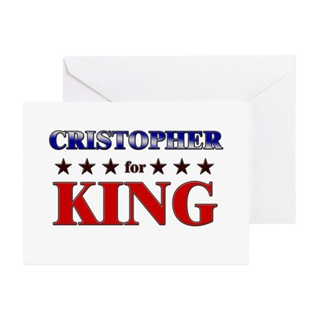 CRISTOPHER for king Greeting Cards (Pk of 10)