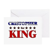 CRISTOPHER for king Greeting Card