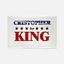 CRISTOPHER for king Rectangle Magnet