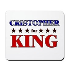 CRISTOPHER for king Mousepad