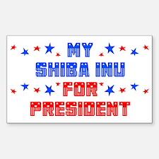 Shiba Inu PRESIDENT Rectangle Decal