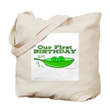 TWINS' FIRST BIRTHDAY Tote Bag