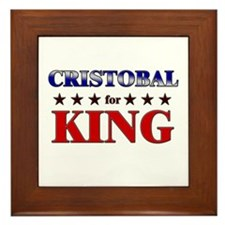 CRISTOBAL for king Framed Tile