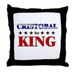 CRISTOBAL for king Throw Pillow