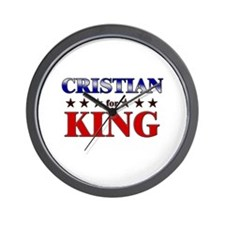 CRISTIAN for king Wall Clock
