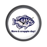 Have a Crappie Day! Wall Clock