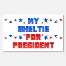 Sheltie PRESIDENT Rectangle Decal
