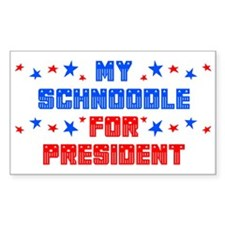 Schnoodle PRESIDENT Rectangle Decal