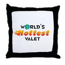 World's Hottest Valet (C) Throw Pillow