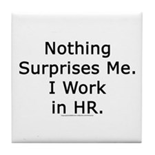 Funny Hr Tile Coaster