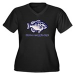 Have a Crappie Day! Women's Plus Size V-Neck Dark