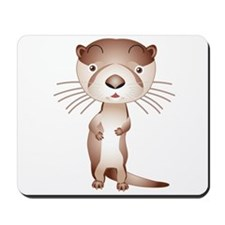 Cute and Cuddly Ferret Mousepad