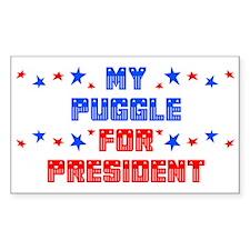Puggle PRESIDENT Rectangle Decal