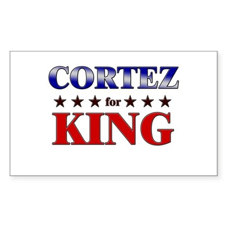 CORTEZ for king Rectangle Sticker
