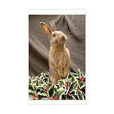 Christmas Rabbit Rectangle Decal