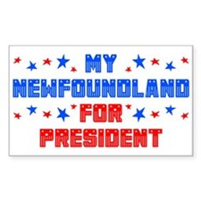 Newfoundland PRESIDENT Rectangle Decal
