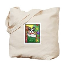 Boston Terrier Holiday Tote Bag