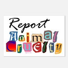 Report Animal Cruelty Postcards (Package of 8)