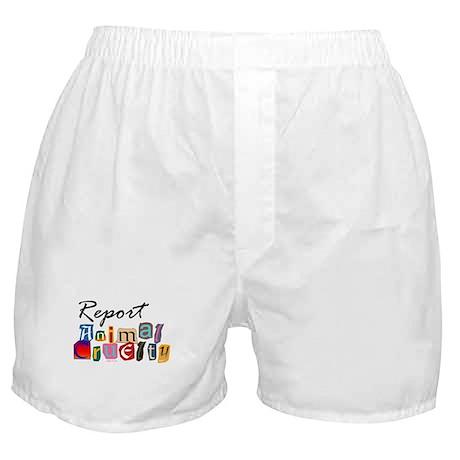 Report Animal Cruelty Boxer Shorts