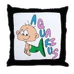 Aquarius Baby Throw Pillow