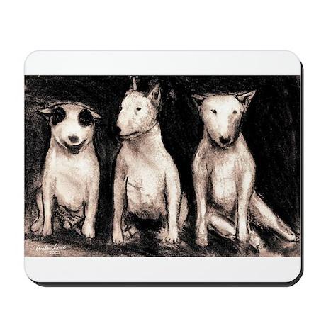 3 Bull Terriers Mousepad