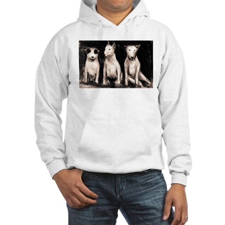 3 Bull Terriers Hooded Sweatshirt