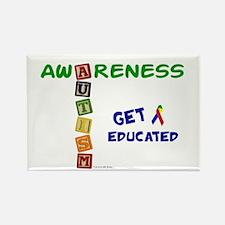 Autism Awareness Blocks 2 Rectangle Magnet (10 pac