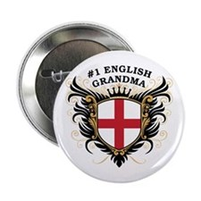 """Number One English Grandma 2.25"""" Button"""