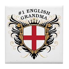 Number One English Grandma Tile Coaster