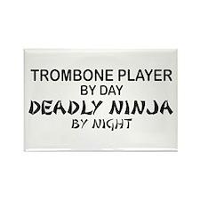 Trombone Player Deadly Ninja Rectangle Magnet