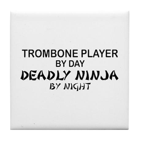 Trombone Player Deadly Ninja Tile Coaster