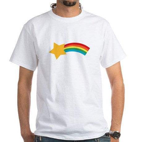 Retro Shooting Star White T-Shirt