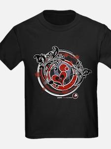 Kids Heart/Circles Dark T-Shirt
