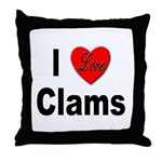 I Love Clams for Clam Lovers Throw Pillow