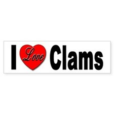 I Love Clams for Clam Lovers Bumper Bumper Sticker