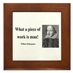 Shakespeare 21 Framed Tile