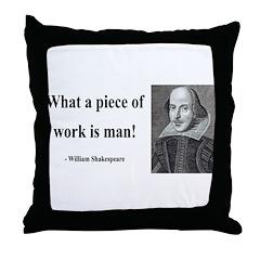 Shakespeare 21 Throw Pillow