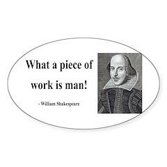 Shakespeare 21 Oval Sticker