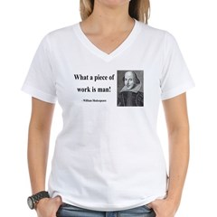 Shakespeare 21 Women's V-Neck T-Shirt