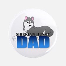 "Siberian Husky Dad 3.5"" Button (100 pack)"