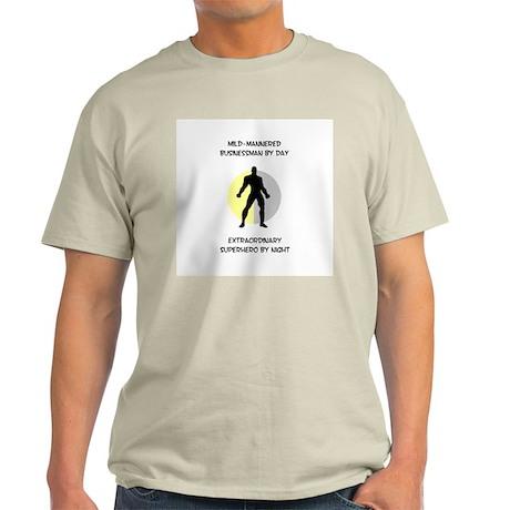 Heroic Businessman Light T-Shirt