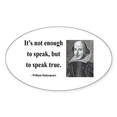 Shakespeare 22 Oval Decal