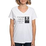 Shakespeare 22 Women's V-Neck T-Shirt