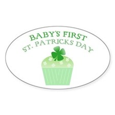 Baby's First St. Patrick's Da Oval Decal