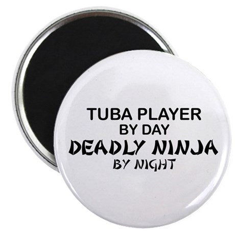 Tuba Player Deadly Ninja Magnet